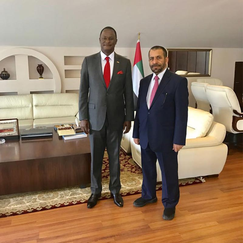 Amb. Hon. Kiema Kilonzo paid a courtesy call on the UAE Ambassador on 5th April 2017