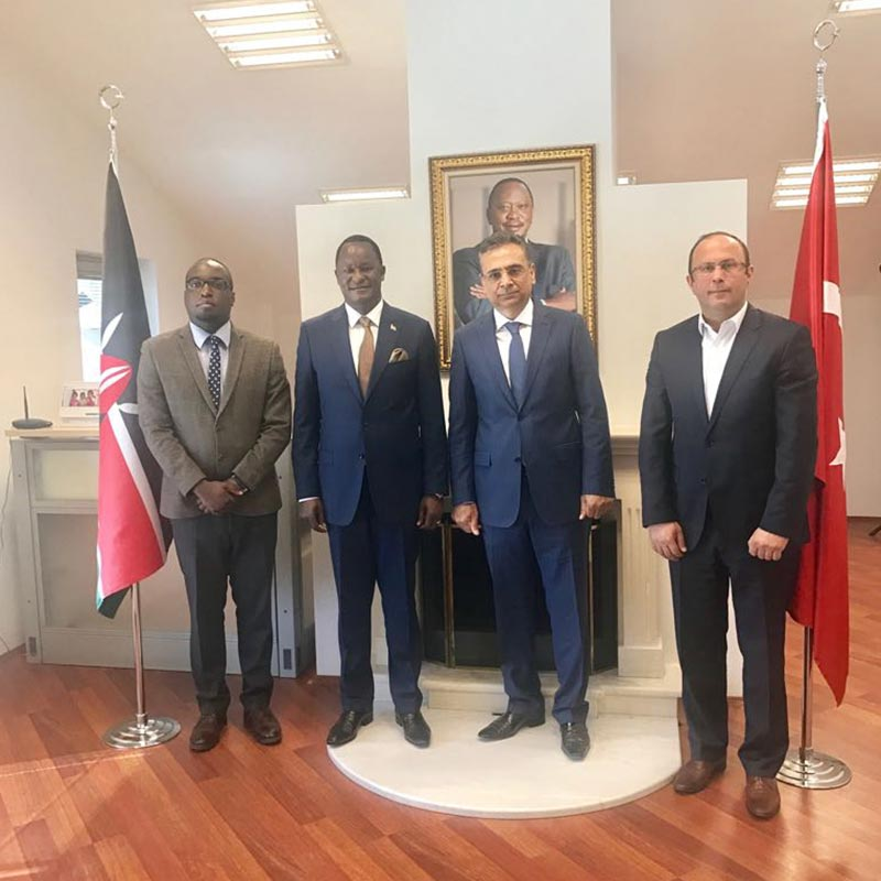 Turkish businessmen called on the Ambassador at the Kenya Chancery to discuss the investment opportunities in the meat industry on 4th April 2017