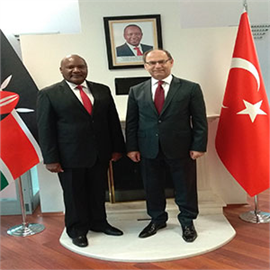 Meeting between H.E. the Ambassador and the Deputy President of CHE- Turkey