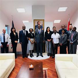 Ambassador Kiema Kilonzo with members of staff of the Kenya Embassy in Ankara